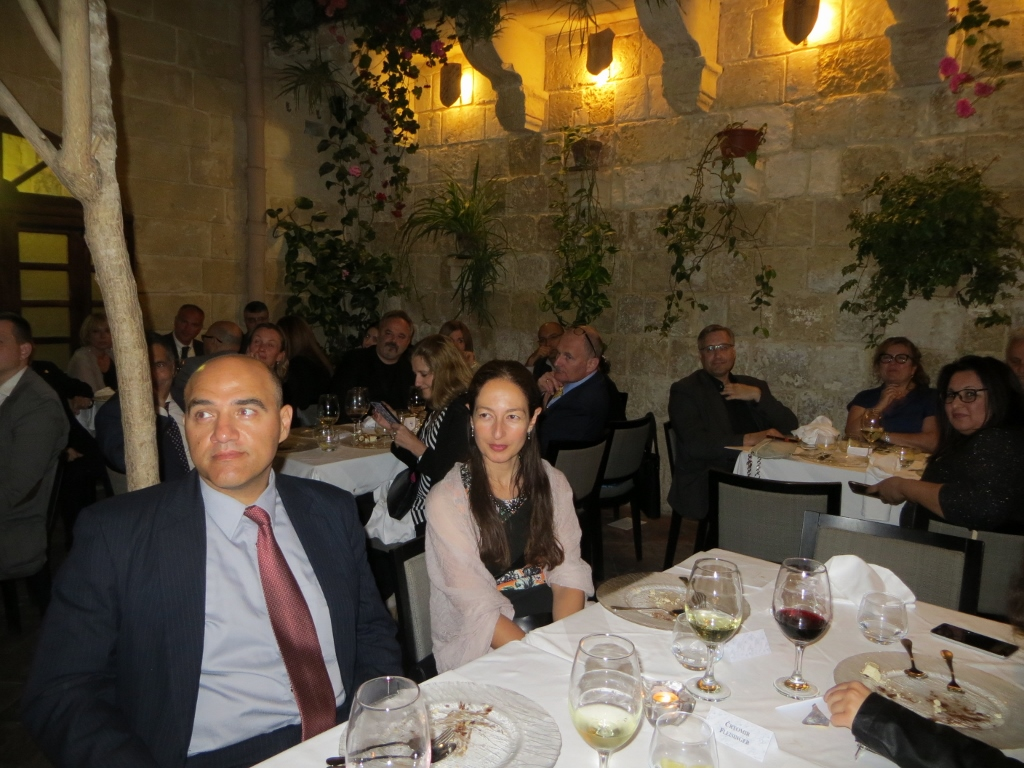 EIPG delegates and guests at the 2017 General Assembly dinner in Malta.