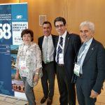 EIPG President Claude Farrugia, EIPG Vice-Presidents Piero Iamaratino and Maurizio Battistini, and AEFI President Carmen García Carbonell at the 58° Simposio AFI